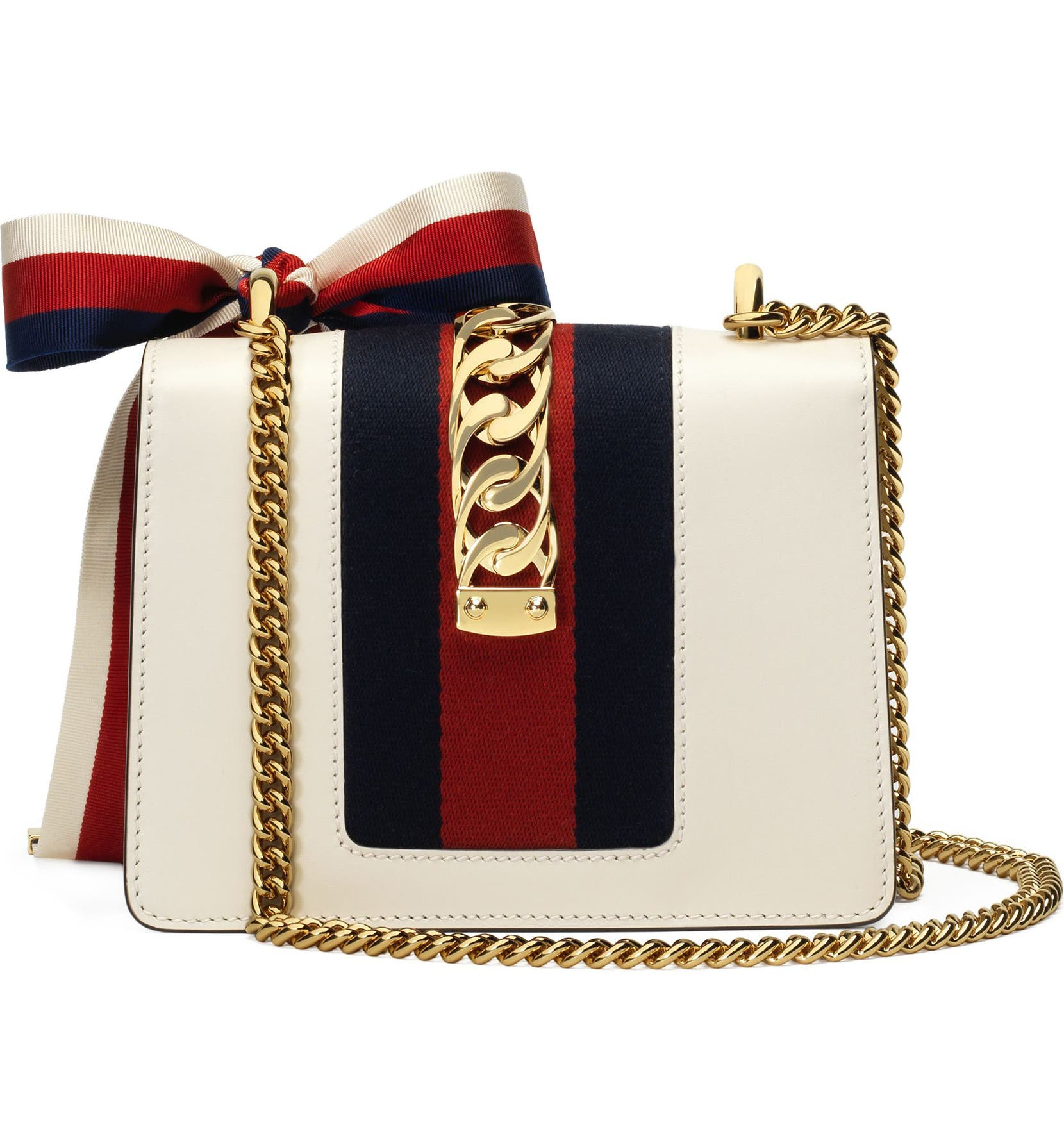 b99970a67bf7 Gucci Mini Sylvie Leather Shoulder Bag | Nordstrom