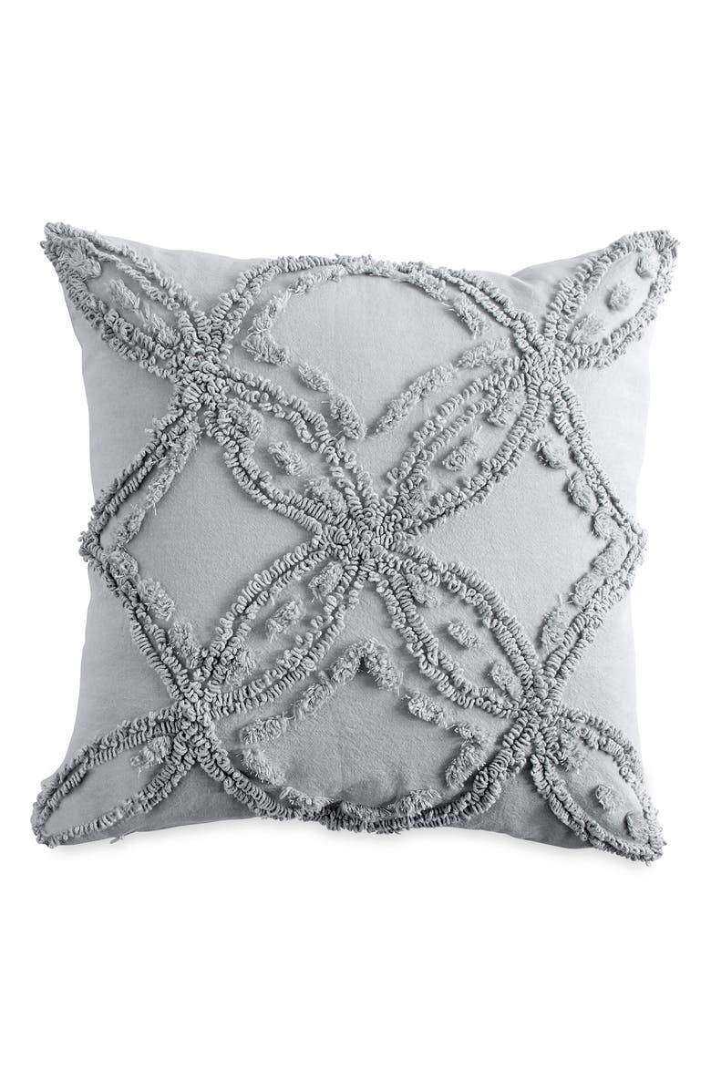 PERI HOME Metallic Chenille Pillow, Main, color, GREY