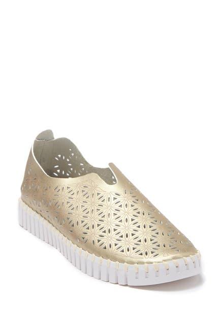 Image of Ilse Jacobsen Hornbaek Tulip Perforated Slip-On Sneaker