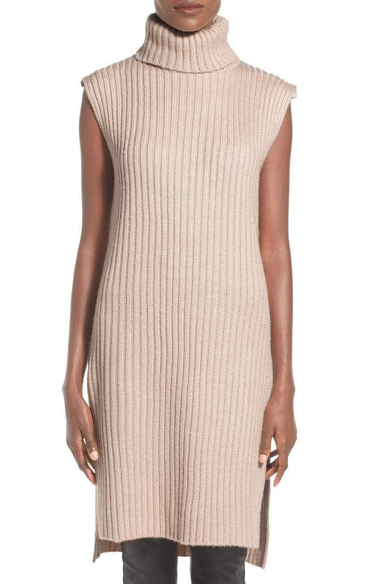 LUCCA COUTURE Sleeveless Turtleneck Sweater Dress, Main, color, 900