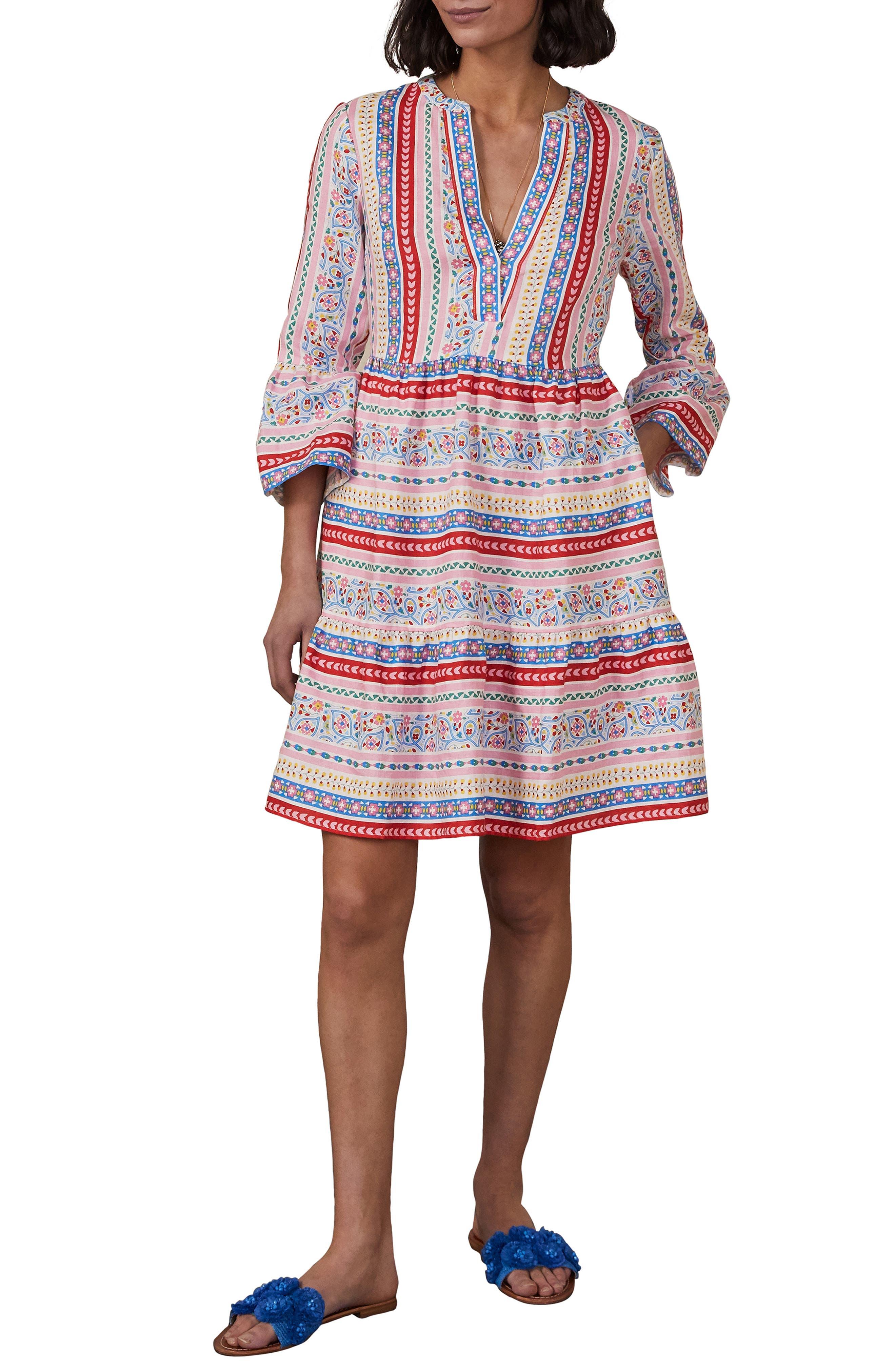 Relaxed Tiered Linen Dress