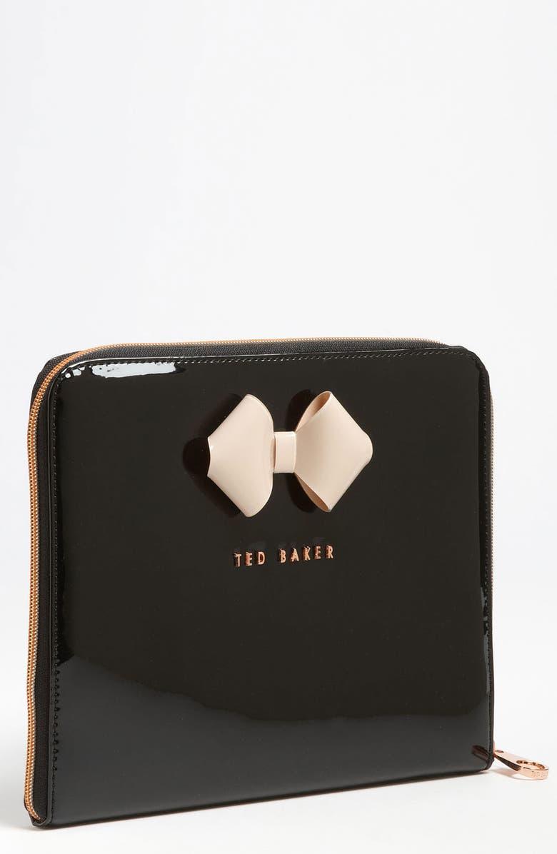 TED BAKER LONDON 'Bow' iPad Sleeve, Main, color, 009