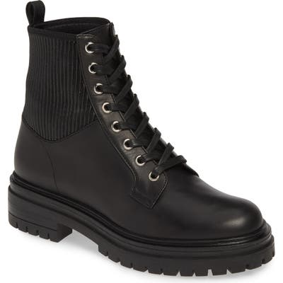 Gianvito Rossi Combat Boot, Black