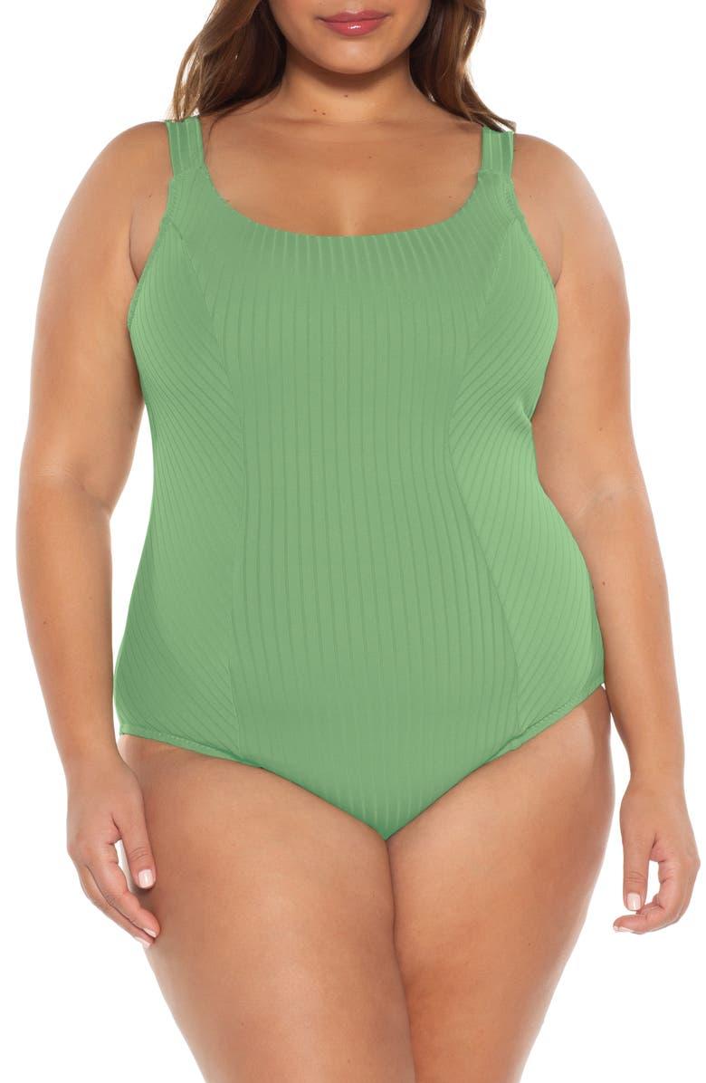 BECCA ETC. Loreto One-Piece Swimsuit, Main, color, SPRING GREEN