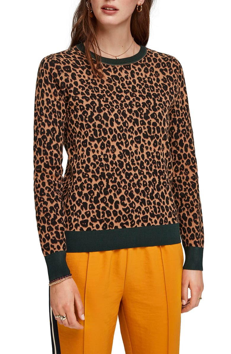 SCOTCH & SODA Basic Plus Jacquard Sweater, Main, color, 200