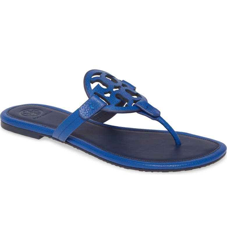 TORY BURCH Miller Flip Flop, Main, color, NAUTICAL BLUE / ROYAL NAVY