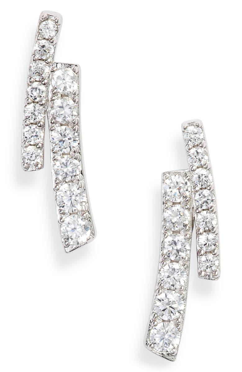 NADRI Ripple Split Line Earrings, Main, color, 040