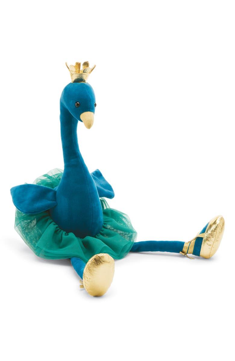 JELLYCAT Large Fancy Peacock Stuffed Animal, Main, color, BLUE