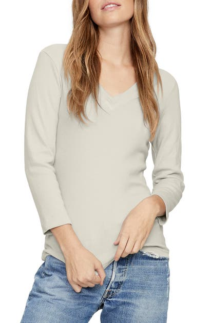 Michael Stars Kimora V-neck Top In Castle
