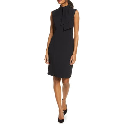 Harper Rose Tie Neck Sheath Dress, Black