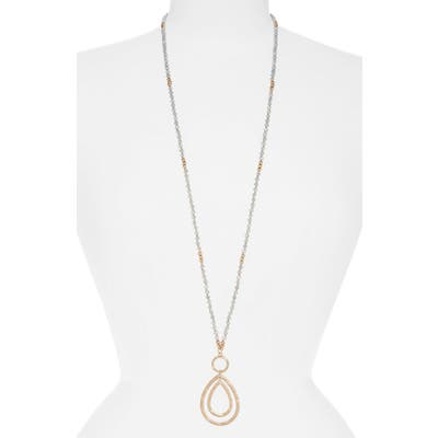 Canvas Jewelry Double Pendant Necklace