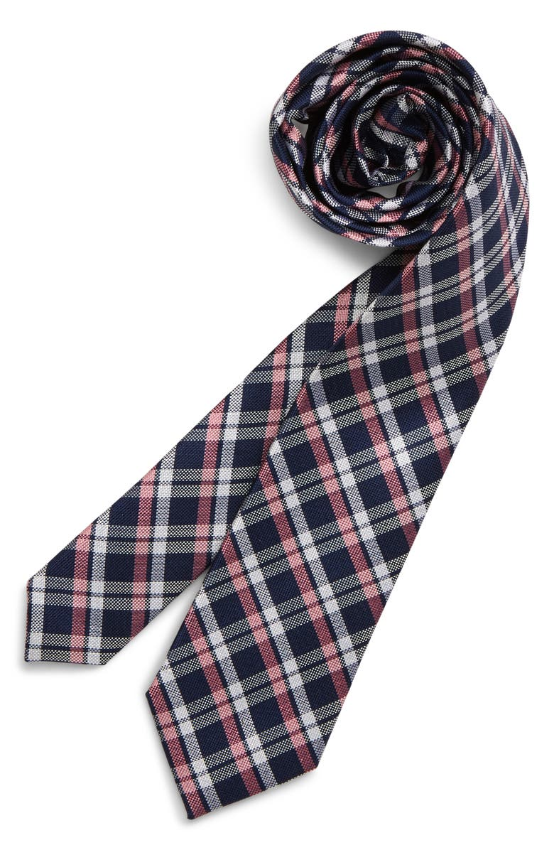 NORDSTROM Maximus Plaid Silk Tie, Main, color, 650