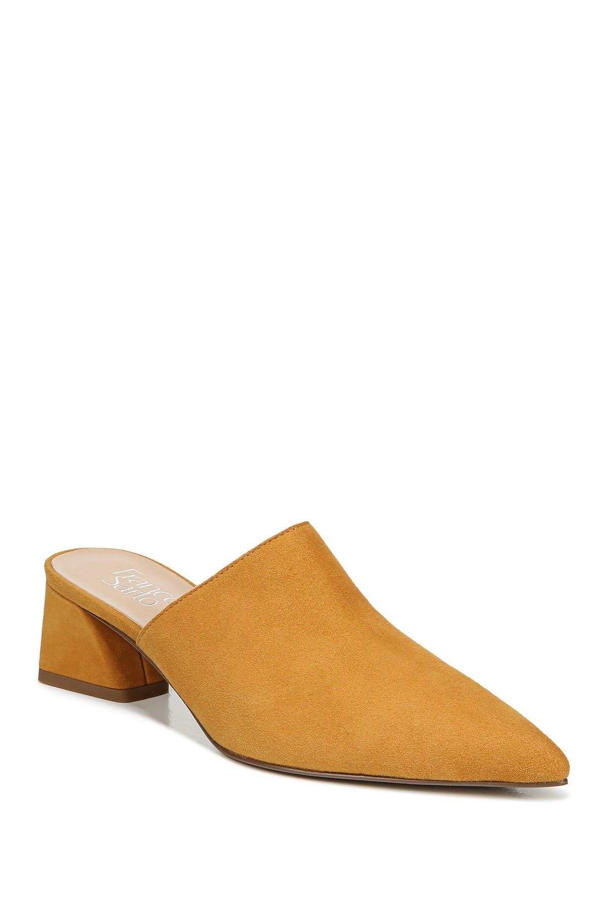 Image of Franco Sarto Rianan Suede Block Heel Mule