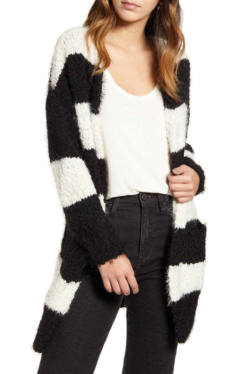 LIRA CLOTHING Skye Stripe Cardigan, Main, color, 001