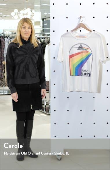 Pink Floyd Retro Rainbow Boyfriend Graphic Tee, sales video thumbnail