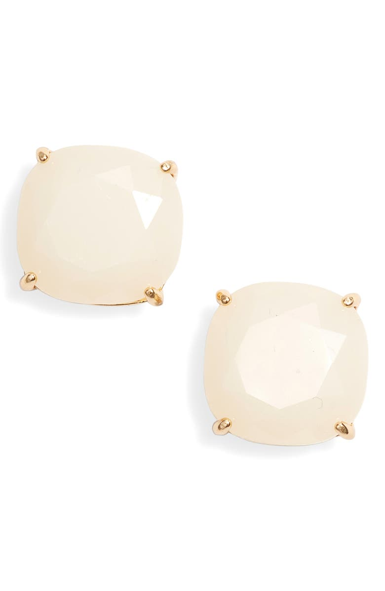 KATE SPADE NEW YORK small square stud earrings, Main, color, CREAM