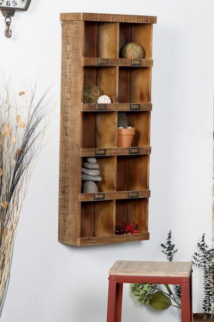 Image of Willow Row Brown Wood Wall Shelf