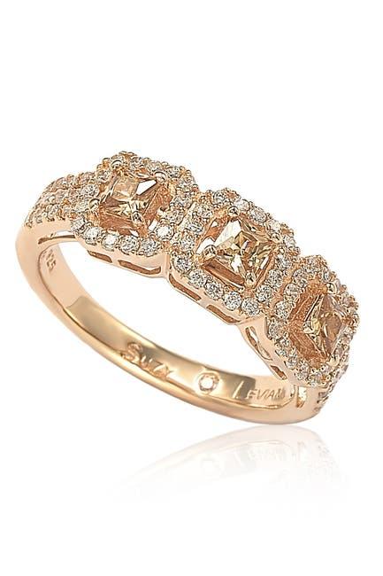 Image of Suzy Levian Three Stone Asscher-Cut CZ Statement Ring