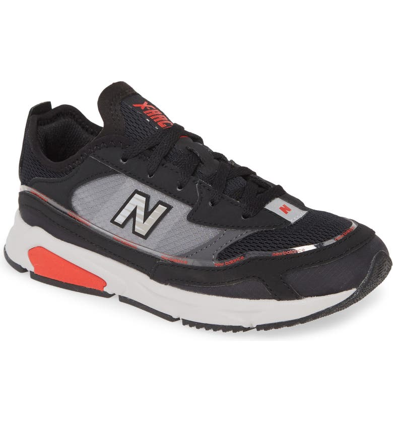 NEW BALANCE X-Racer Sneaker, Main, color, BLACK