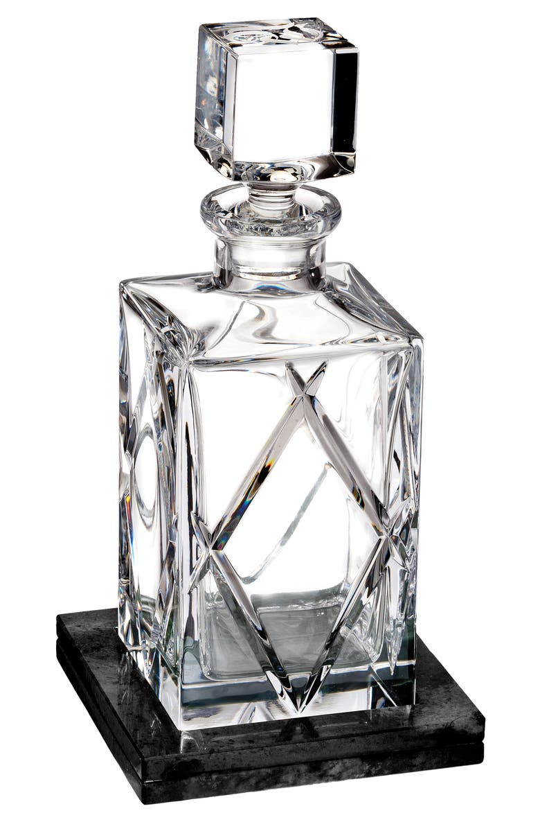 WATERFORD Okann Lead Crystal Decanter with Coaster, Main, color, 100