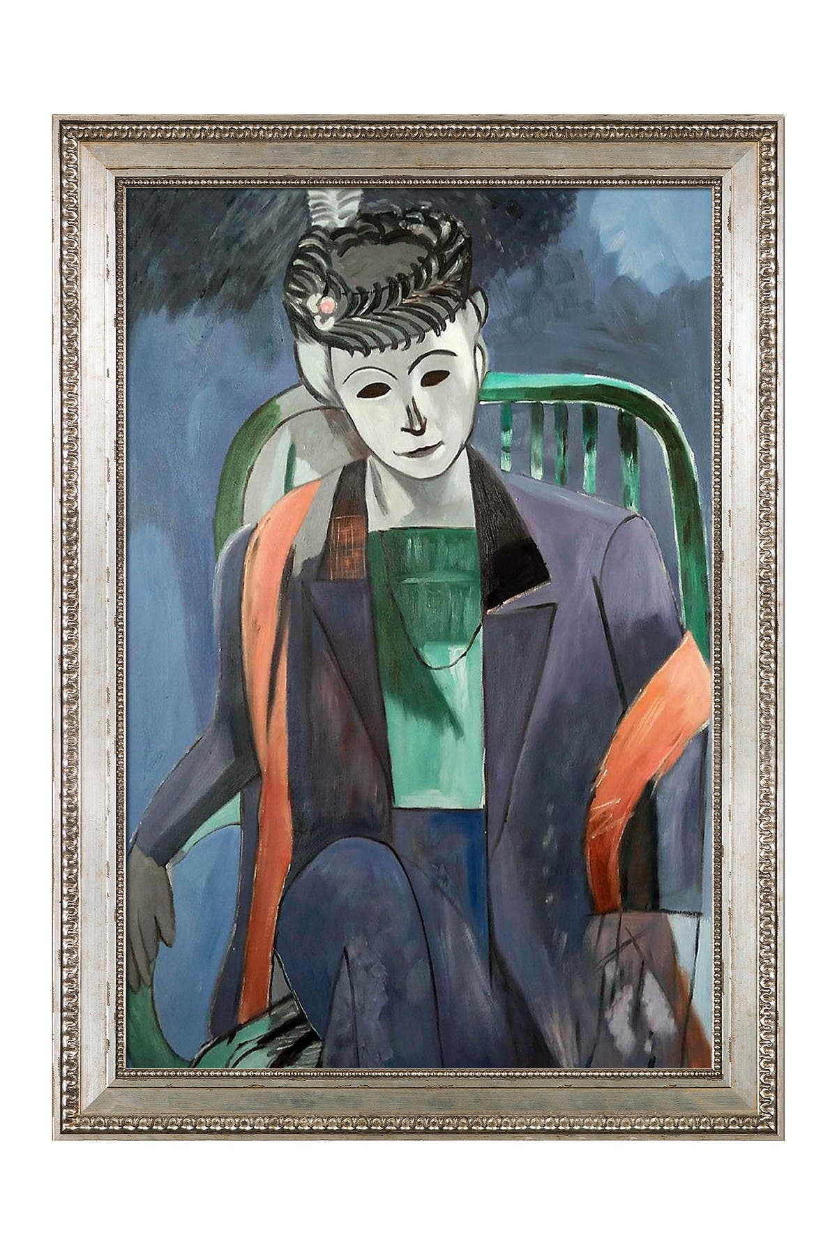 Image of Overstock Art Portrait of the Artist's Wife Framed Painting by Henri Matisse