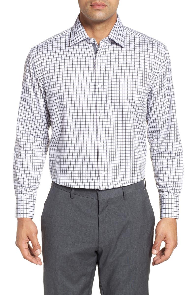 ENGLISH LAUNDRY Regular Fit Check Dress Shirt, Main, color, GREY