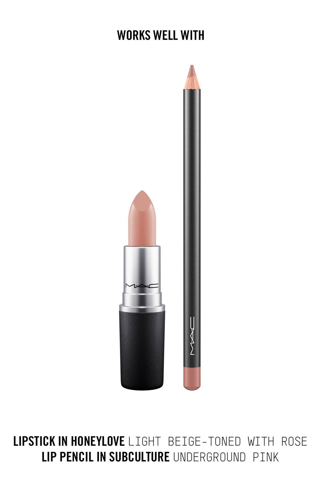 ,                             MAC Strip Down Nude Lipstick,                             Alternate thumbnail 542, color,                             607