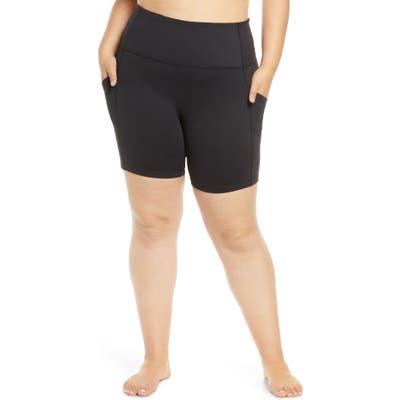 Plus Size Zella Live In High Waist Pocket Bike Shorts