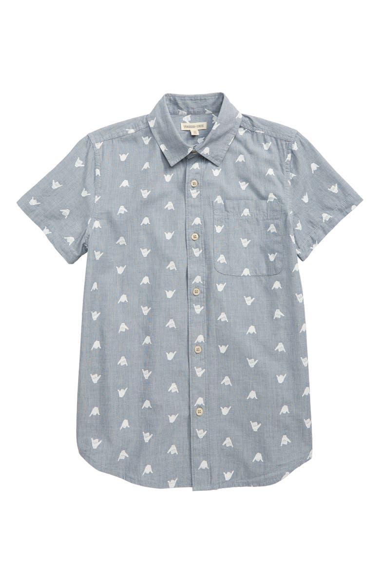 TUCKER + TATE Summertime Badness Woven Shirt, Main, color, 450