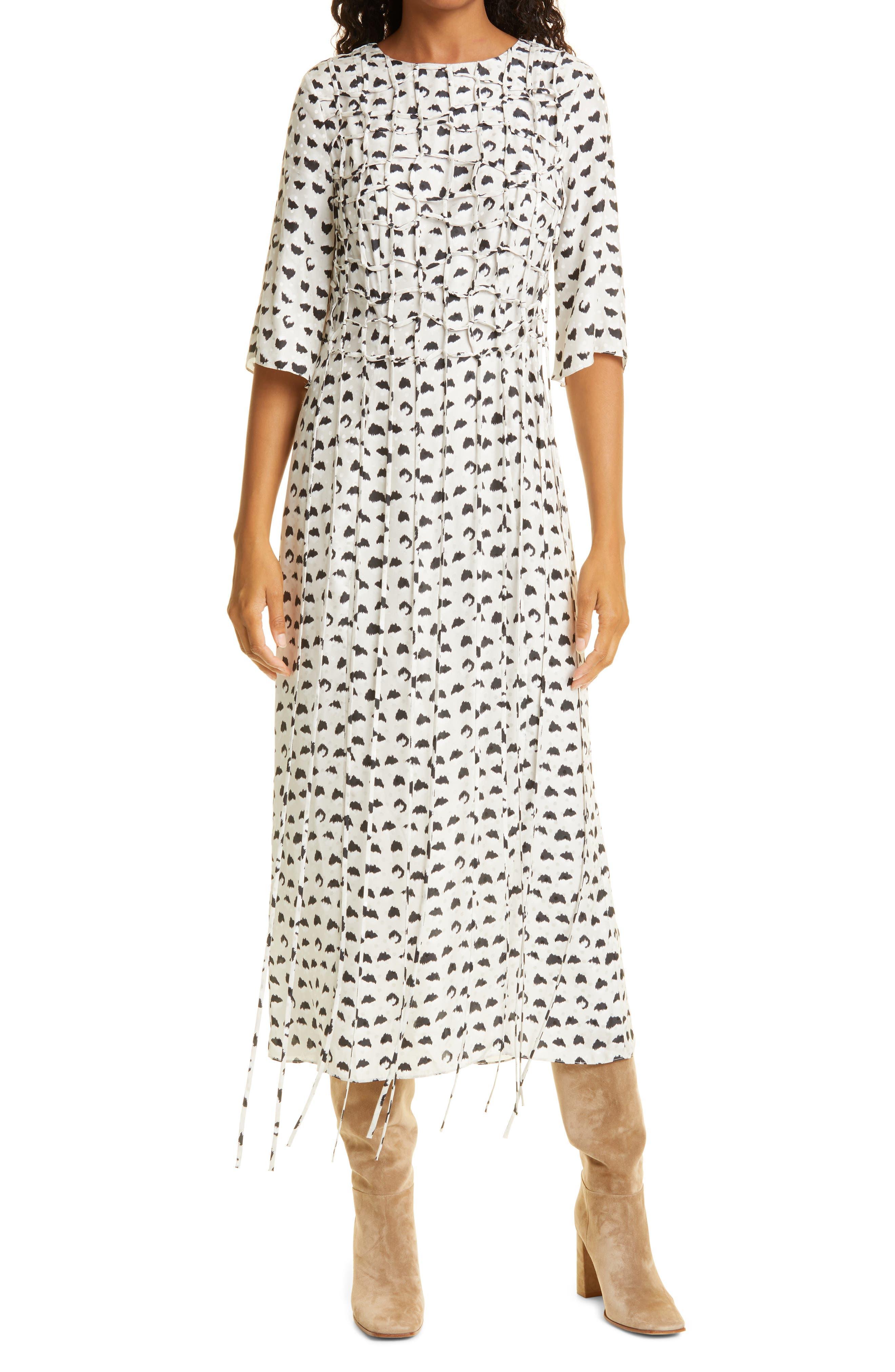Women's Jason Wu Abstract Dot Silk Blend Dress