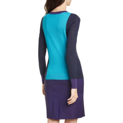 Boss Fiolena Colorblock Wool Sweater