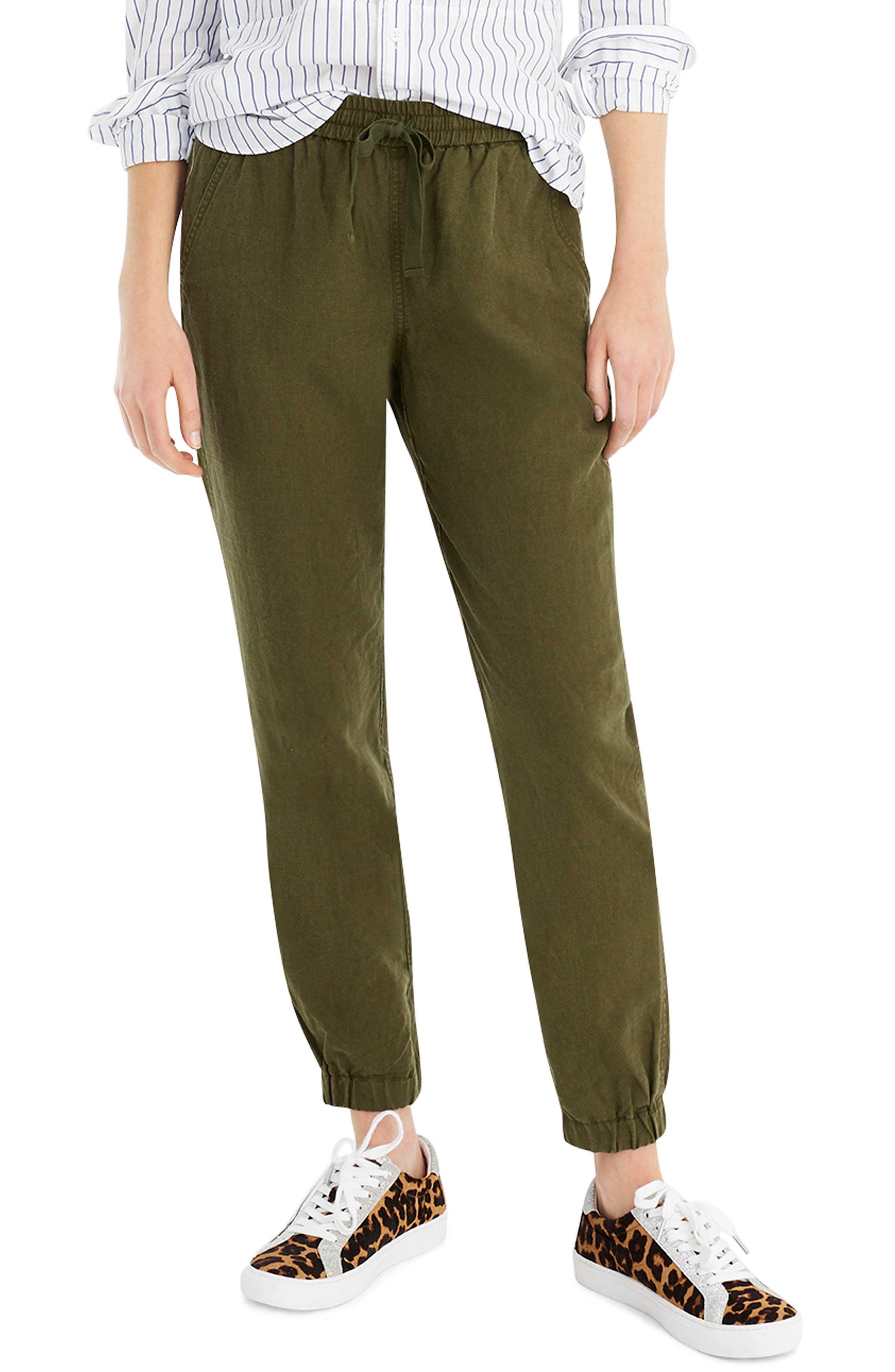 New Seaside Pants, Main, color, LODEN GREEN