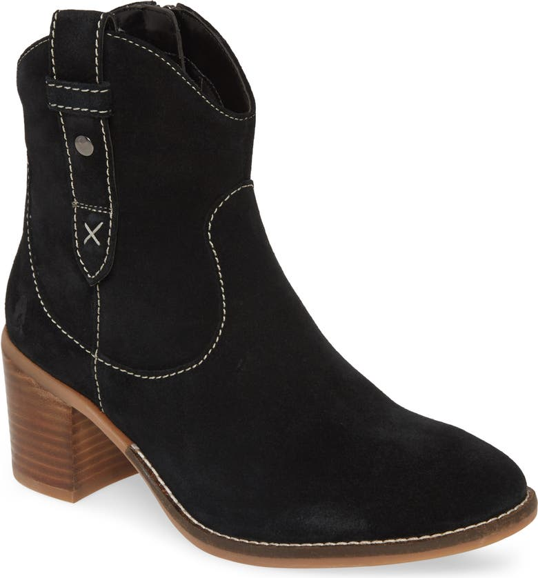 HUSH PUPPIES<SUP>®</SUP> Hannah Bootie, Main, color, BLACK SUEDE