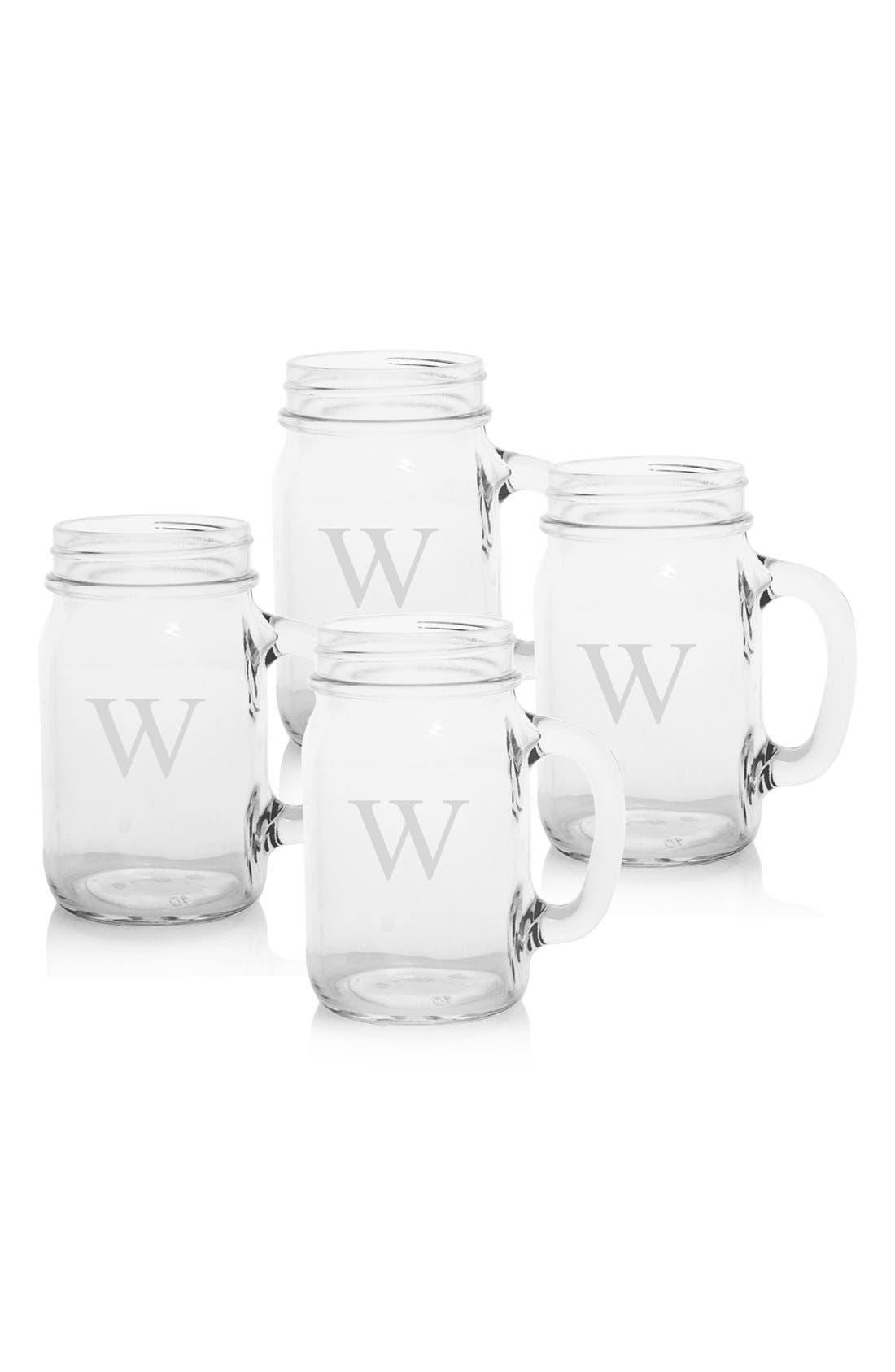 ,                             Monogram Glass Drinking Jars,                             Main thumbnail 72, color,                             982