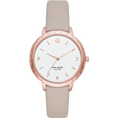 Kate Spade New York Morningside Leather Strap Watch,