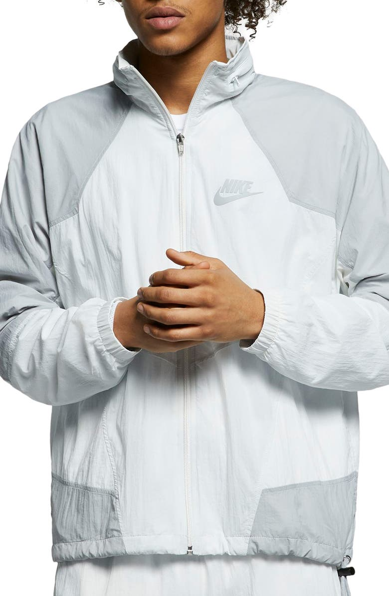 NIKE Sportswear Men's Hooded Woven Jacket, Main, color, OFF WHITE/ WOLF GREY/ SAIL