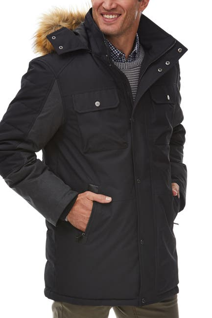 Image of Rainforest Faux Fur Trimmed Hood Insulated Oxford Parka Jacket