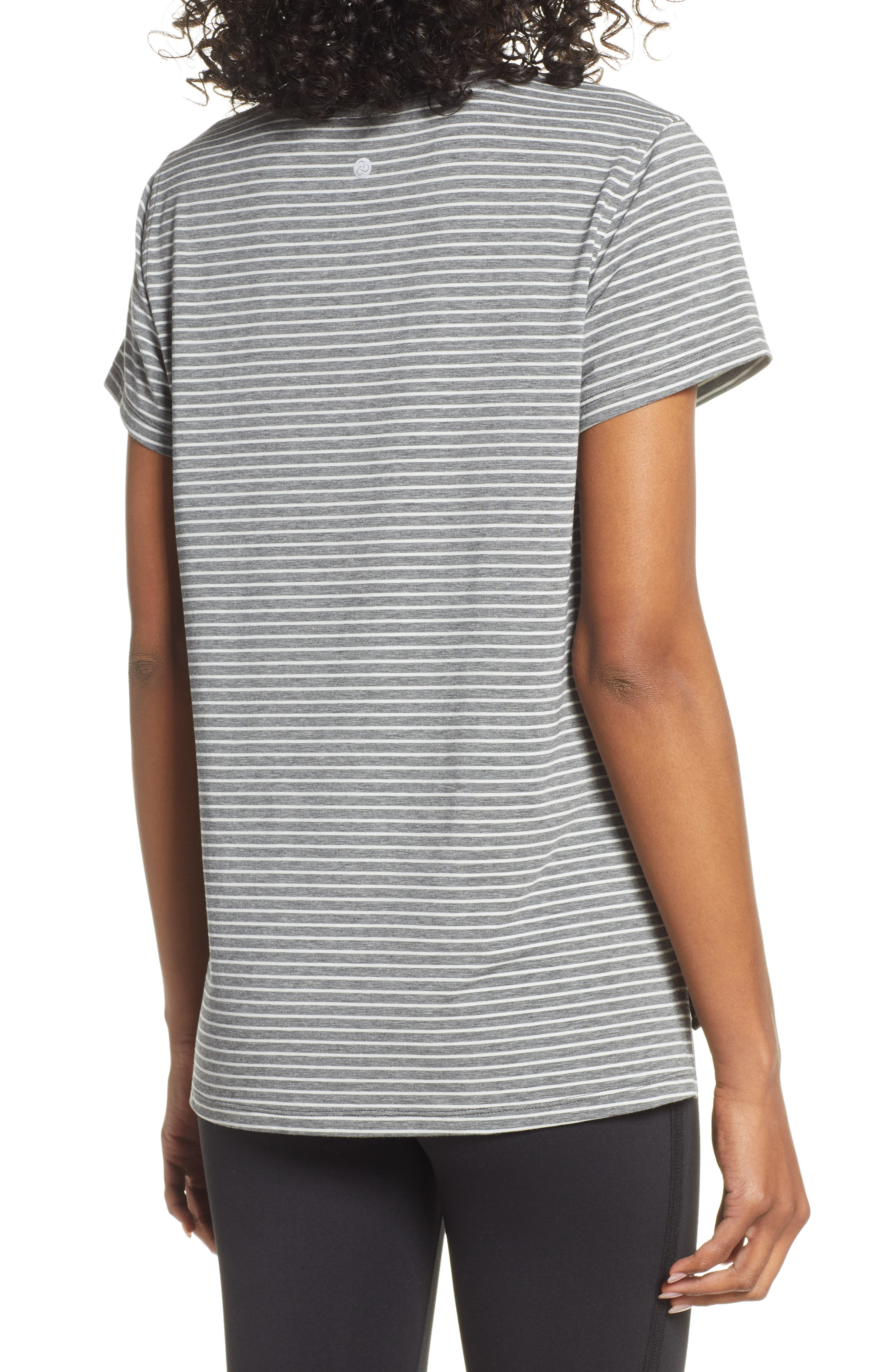 ,                             Ava Quick-Dry Tee,                             Alternate thumbnail 2, color,                             GREY DARK HEATHER