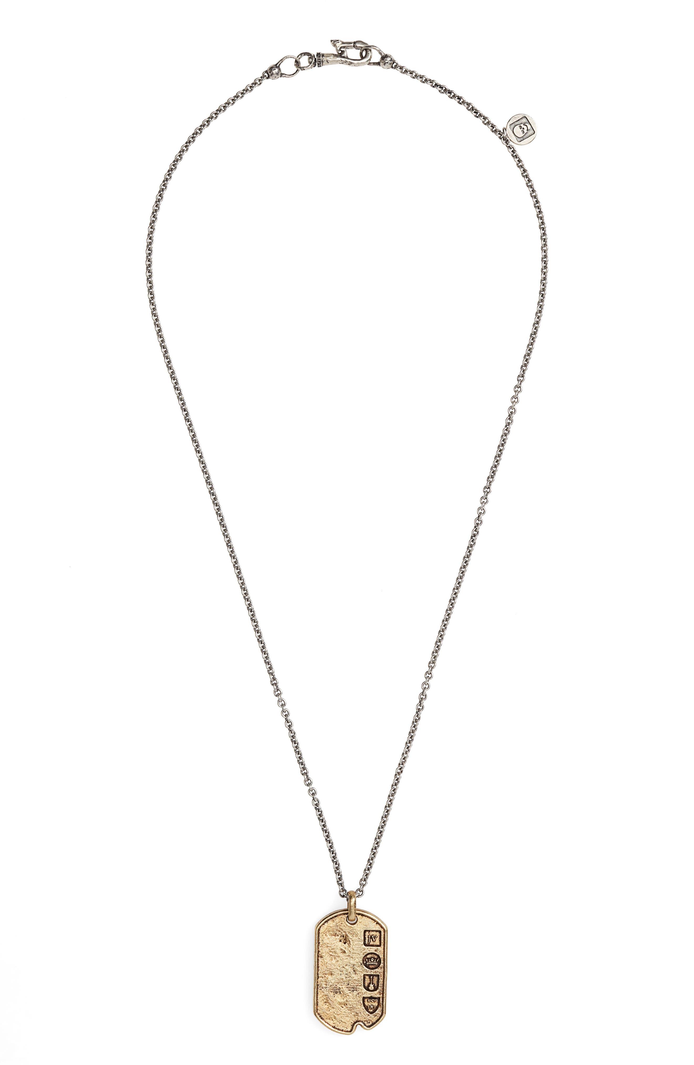 John Varvatos Dog Tag Pendant Necklace