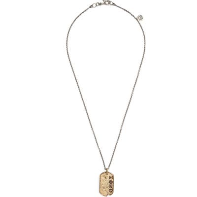 John Varvatos Dog Tag Pendant Necklace