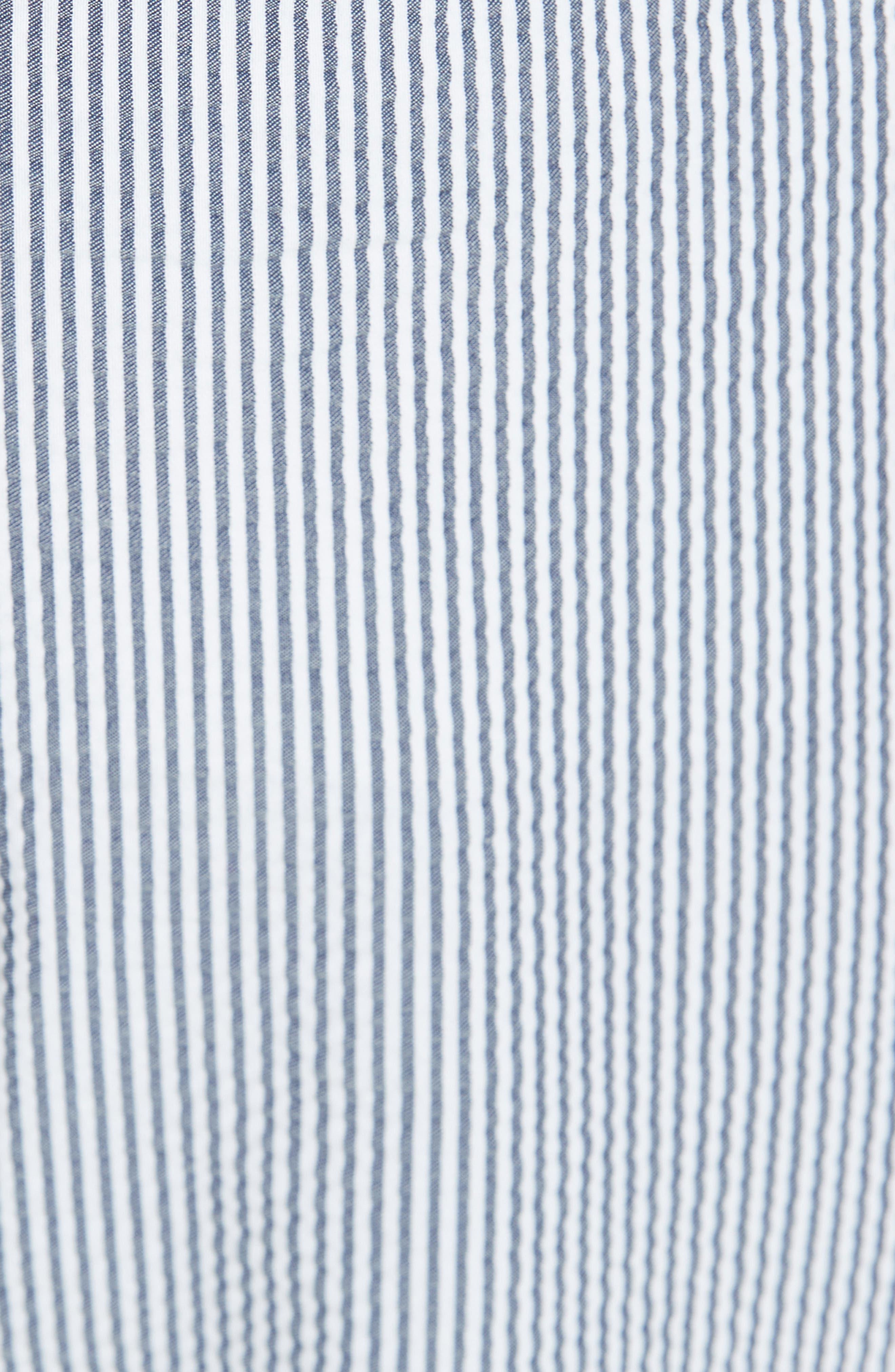 ,                             Denim & Seersucker Pants,                             Alternate thumbnail 5, color,                             TWILIGHT/ STAR WHITE