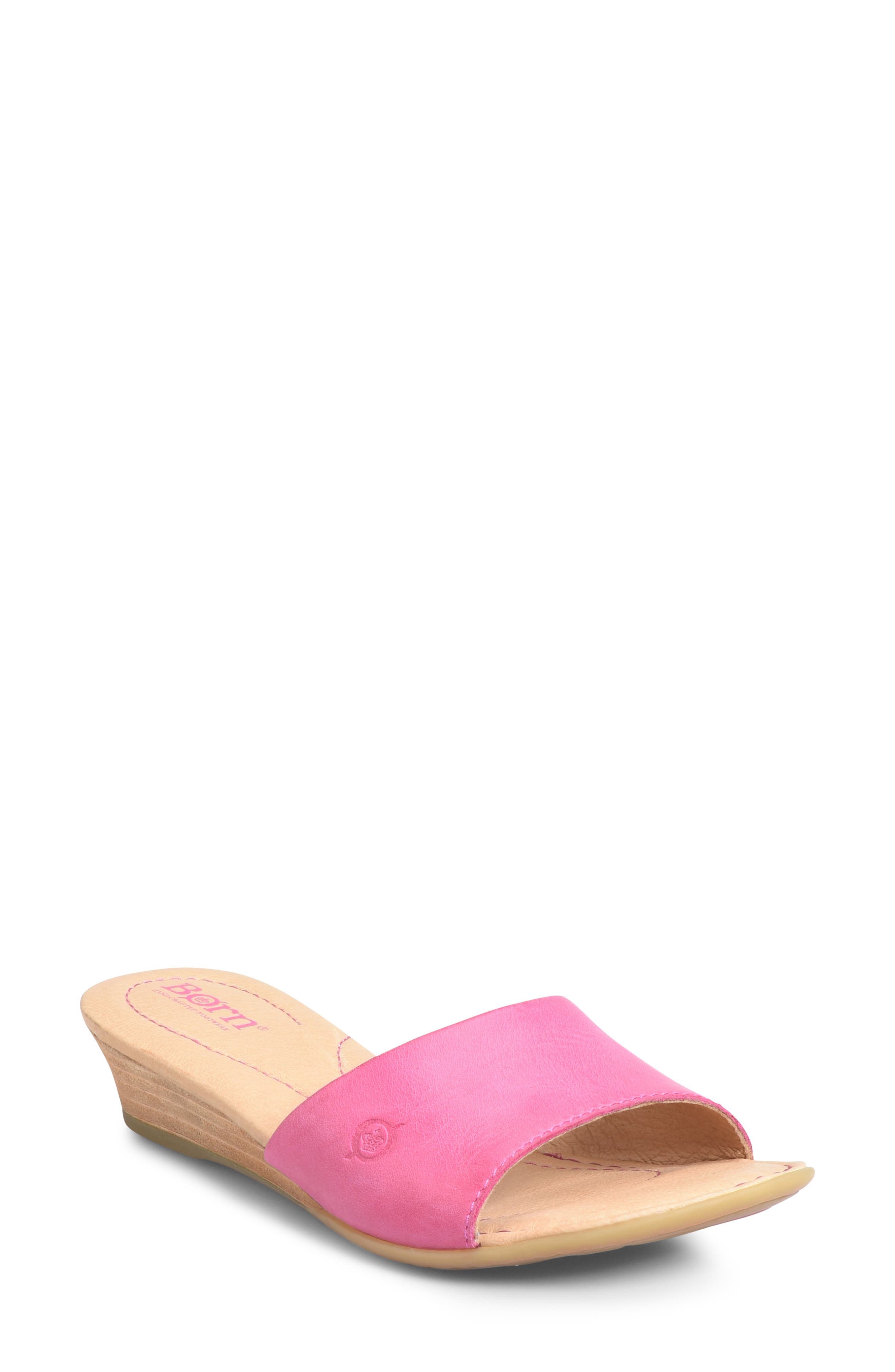 B?rn Shasta Wedge Slide Sandal, Pink