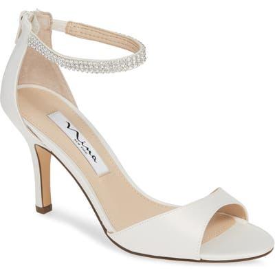 Nina Volanda Ankle Strap Sandal, Ivory