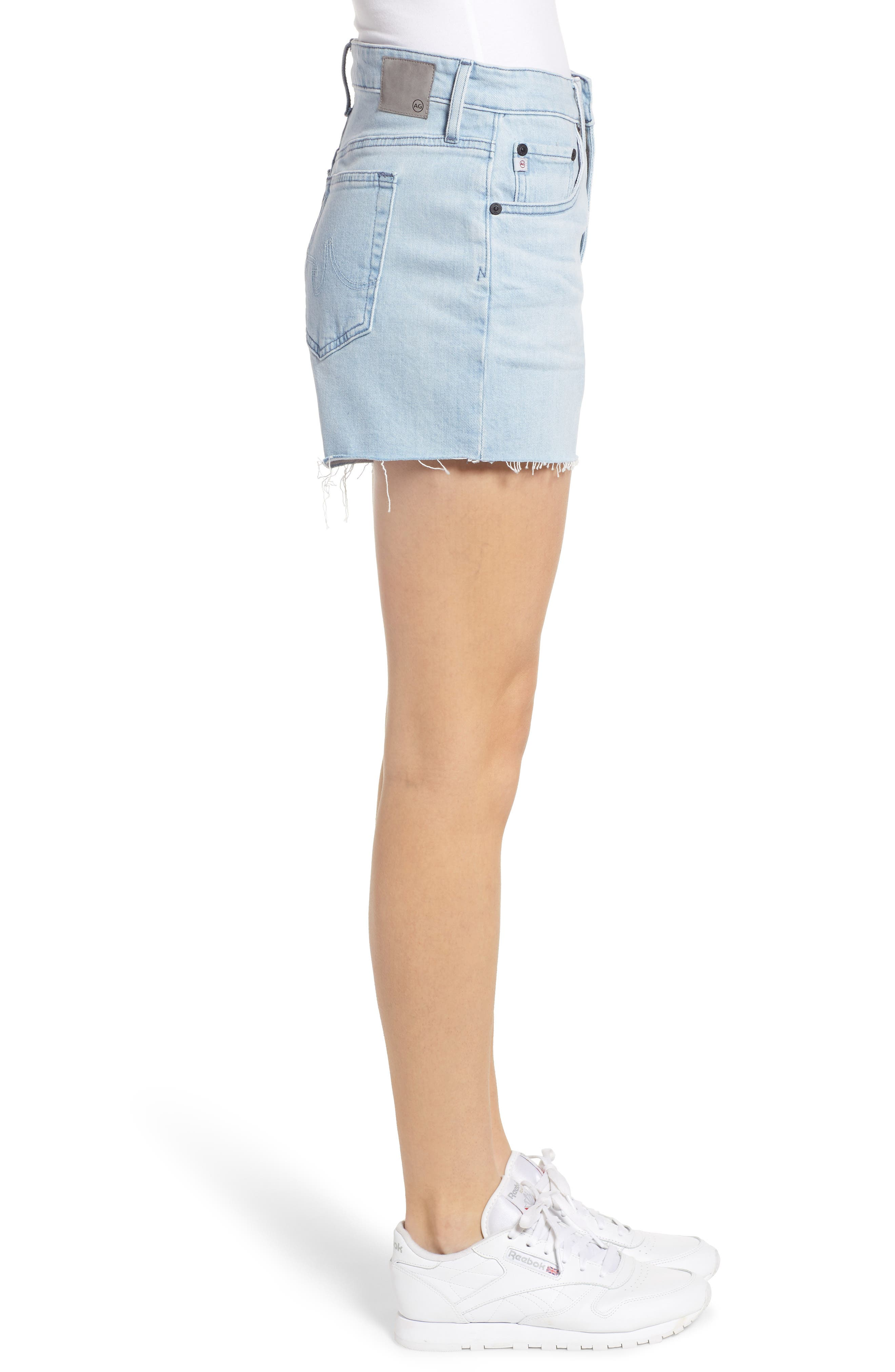 ,                             Hailey Boyfriend Cutoff Denim Shorts,                             Alternate thumbnail 4, color,                             26 YEARS SANGUINE