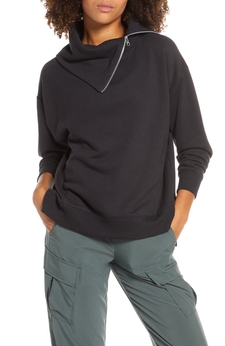 ZELLA Quinn Pullover, Main, color, BLACK