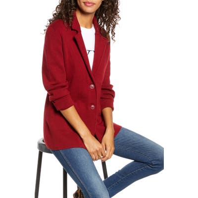 1901 Stretch Wool Blend Sweater Blazer