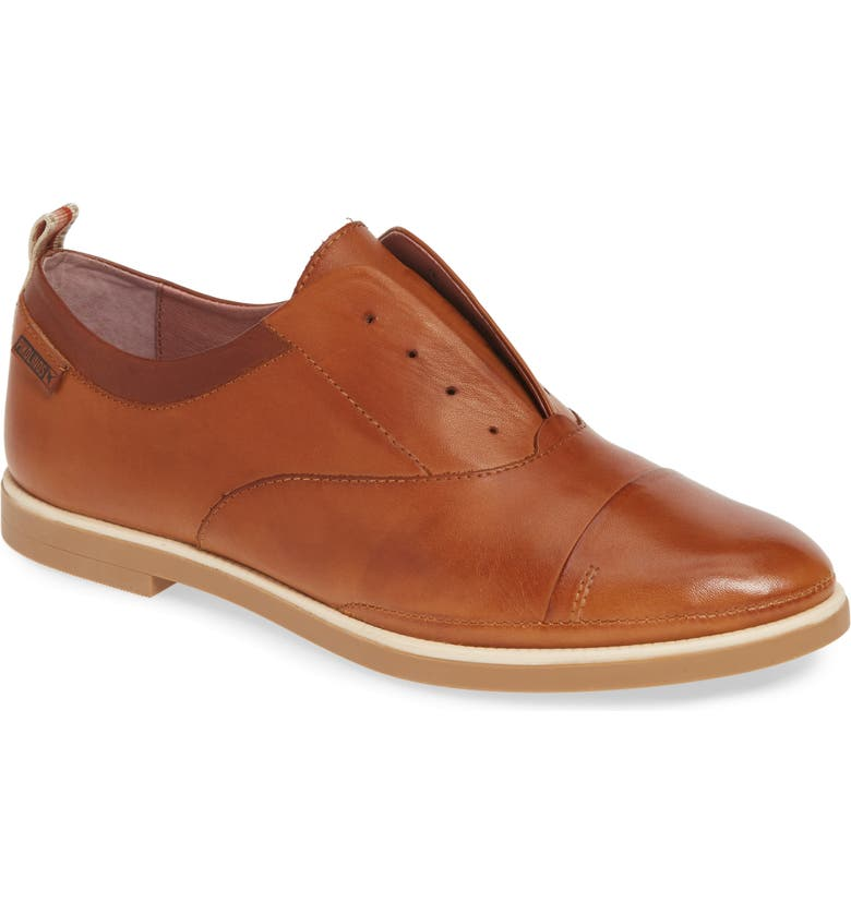 Pyrgos Laceless Oxford, Main, color, BRANDY LEATHER