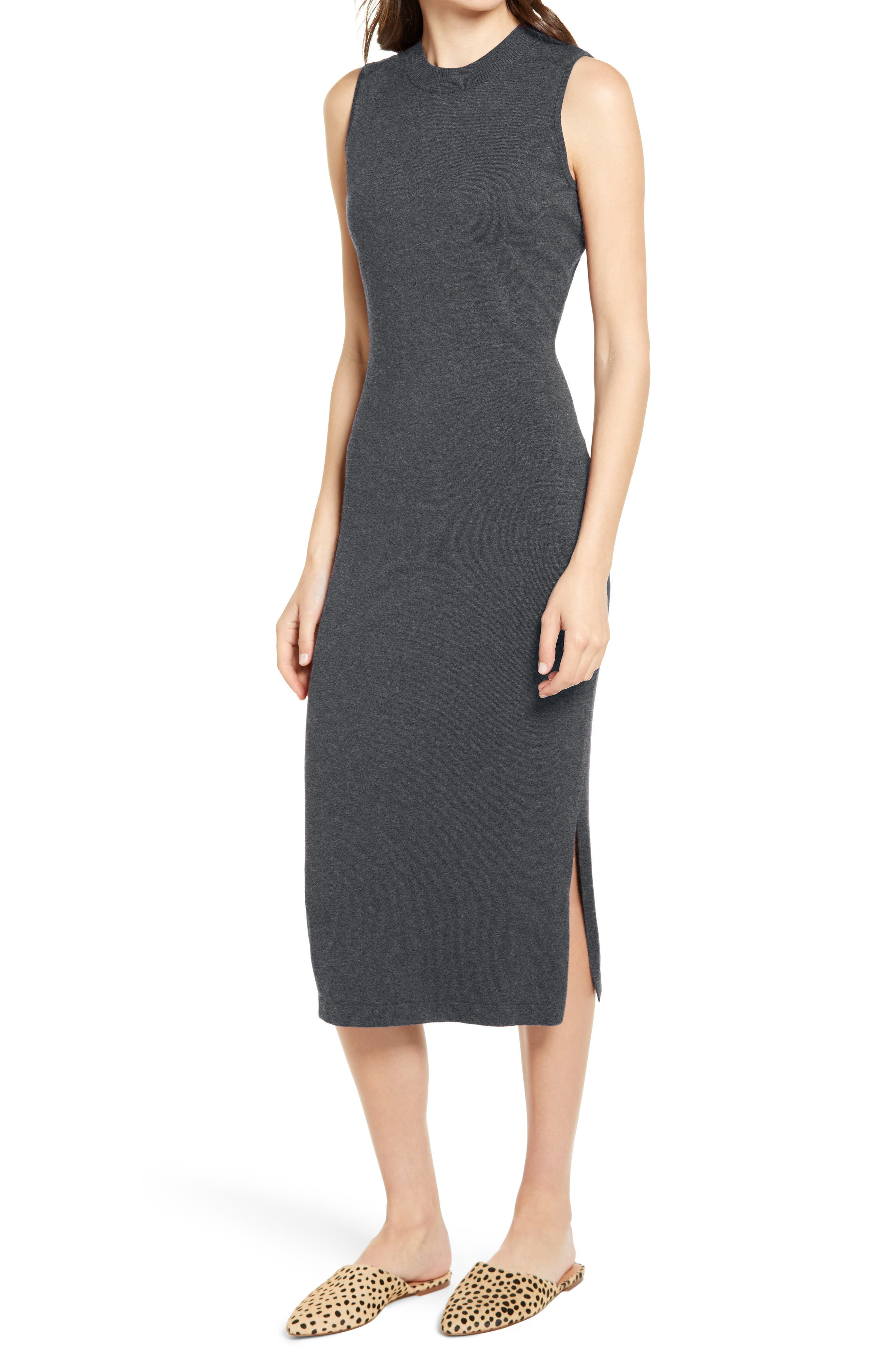 Image of Chelsea28 Sleeveless Midi Sweater Dress