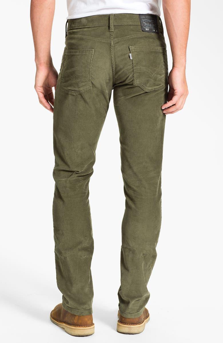 LEVI'S<SUP>®</SUP> '511<sup>™</sup>' Skinny Leg Corduroy Pants, Main, color, 318