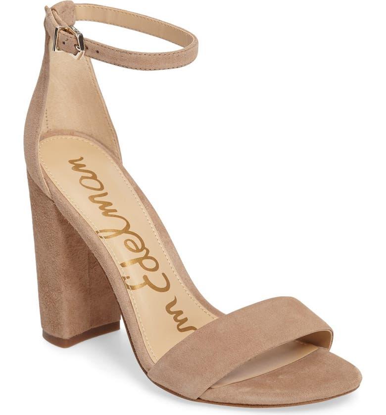 SAM EDELMAN Yaro Ankle Strap Sandal, Main, color, OATMEAL SUEDE